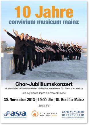 10 Jahre convivium musicum mainz - Konzertplakat/Flyer